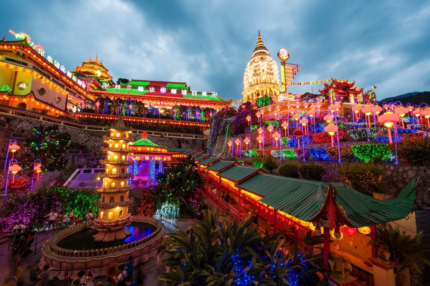 KEK LOK SI DISPLAY OF LIGHTS - PENANG